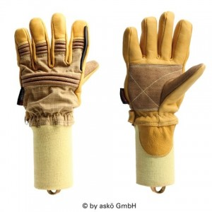 Gasilske rokavice Asko PATRON PBI ELK - kratka tkana manšeta