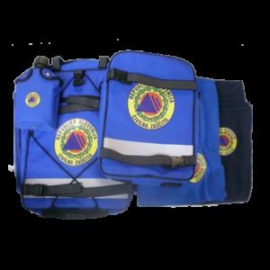 Nahrbtnik za civilno zaščito - moder - napolnjen - dodatna oprema