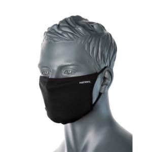 3-slojna zaščitna protimikrobna maska Portwest CV33, 1 kos - črna barva