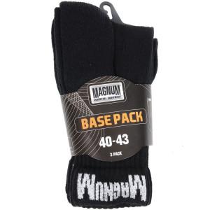 Nogavice Magnum BASE PACK - črne, 3 pari