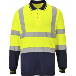 Visokovidna polo majica z dolgimi rokavi Portwest S279