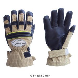 Gasilske rokavice Asko FIRE KEEPER PBI MATRIX- kratka manšeta