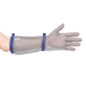 Zaščitna mesarska rokavica- jeklena mrežasta rokavica za delo z noži Portwest AC10 CHAINMAIL – 45cm