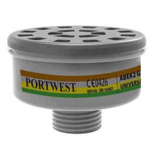 Varnostni zaščitni filter Portwest ABEK2 UNIVERSAL TREAD P926 - 4 kosi