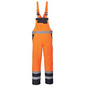 Visokovidne podložene farmer hlače z naramnicami Portwest S489