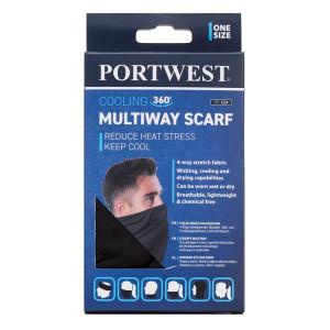 Večnamenski šal Portwest CS24 MULTIWAY